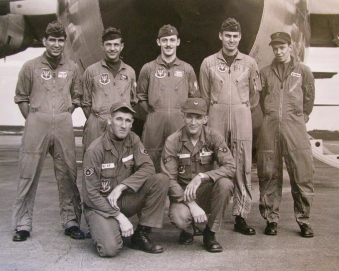 This was the C-130 crew that flew part of the 500 Belgium paratroopers to the Belgium, Congo to quell a native uprising